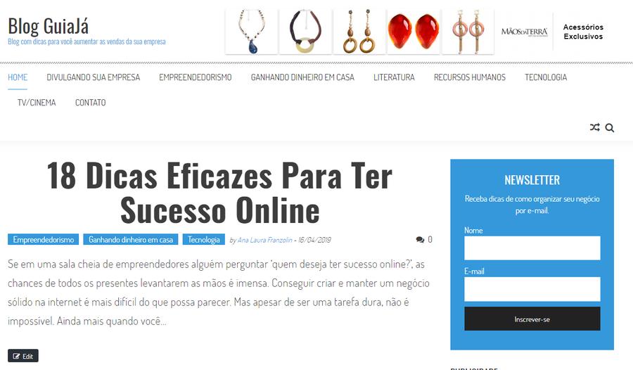 Pequena empresa online